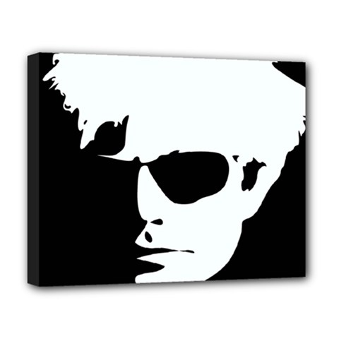 Warhol Deluxe Canvas 20  X 16  (framed) by icarusismartdesigns