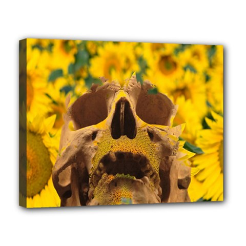 Sunflowers Canvas 14  X 11  (framed) by icarusismartdesigns