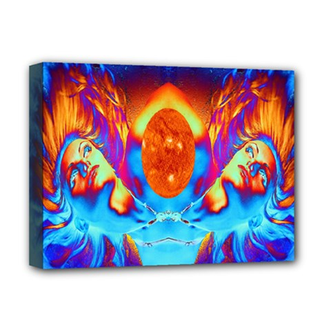 Escape From The Sun Deluxe Canvas 16  X 12  (framed)  by icarusismartdesigns