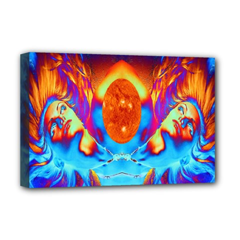 Escape From The Sun Deluxe Canvas 18  X 12  (framed) by icarusismartdesigns