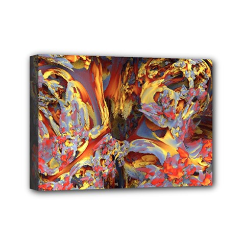 Abstract 4 Mini Canvas 7  X 5  (framed) by icarusismartdesigns