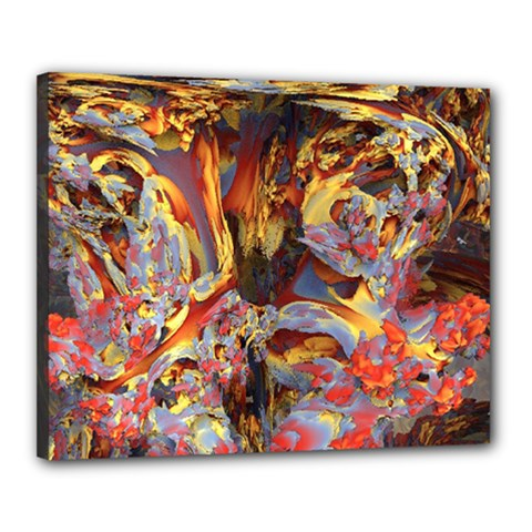 Abstract 4 Canvas 20  X 16  (framed) by icarusismartdesigns