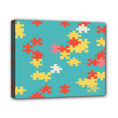 Puzzle Pieces Canvas 10  X 8  (framed) by LalyLauraFLM