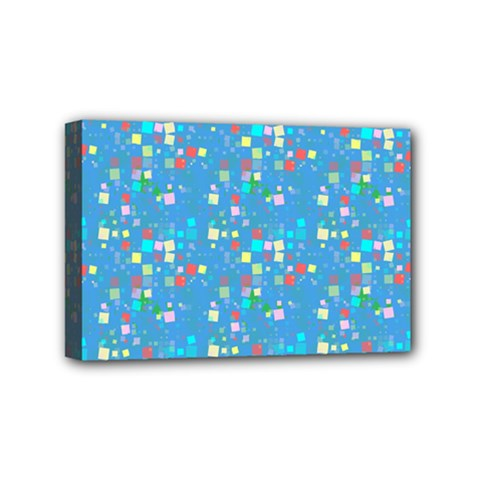 Colorful Squares Pattern Mini Canvas 6  X 4  (stretched)