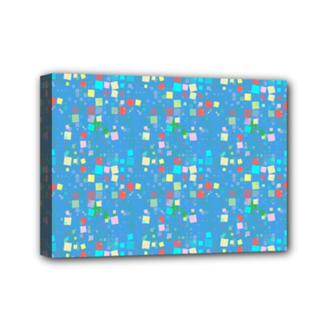 Colorful Squares Pattern Mini Canvas 7  X 5  (stretched) by LalyLauraFLM