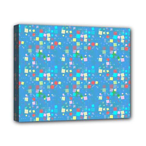 Colorful Squares Pattern Canvas 10  X 8  (stretched)