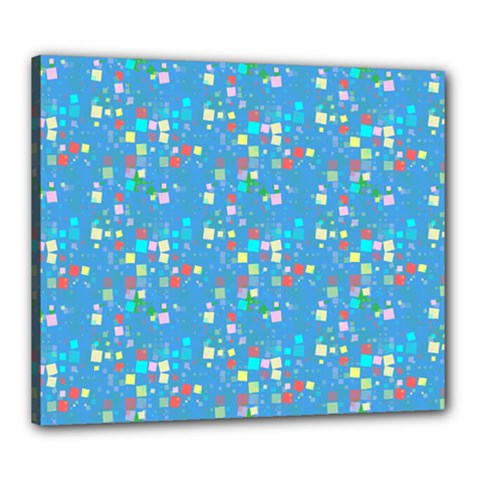 Colorful Squares Pattern Canvas 24  X 20  (stretched)