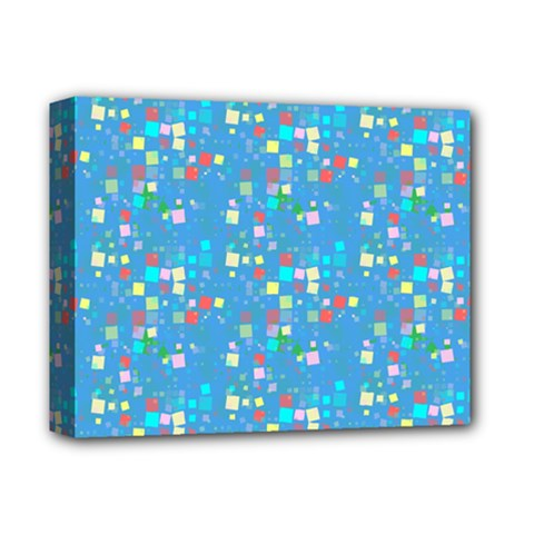Colorful Squares Pattern Deluxe Canvas 14  X 11  (stretched)