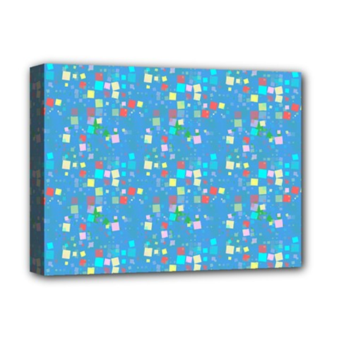 Colorful Squares Pattern Deluxe Canvas 16  X 12  (stretched)