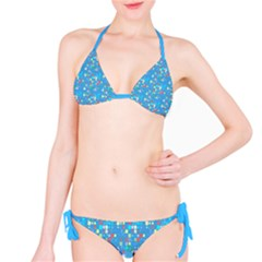 Colorful Squares Pattern Full Set Bikini