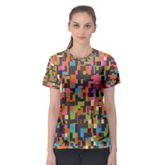 Colorful Pixels Women s Full All Over Print Sport T Shirt