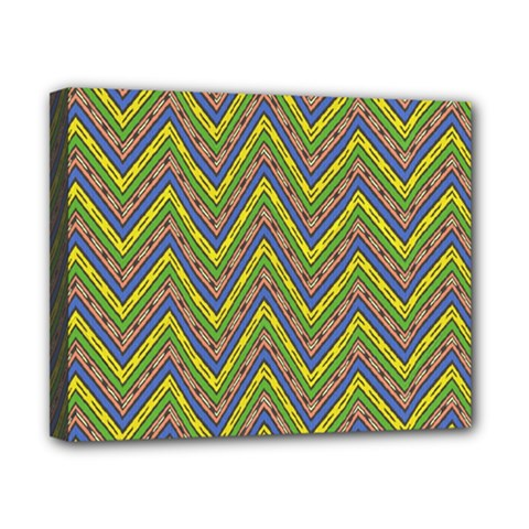 Zig Zag Pattern Canvas 10  X 8  (stretched) by LalyLauraFLM