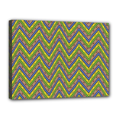 Zig Zag Pattern Canvas 16  X 12  (stretched)