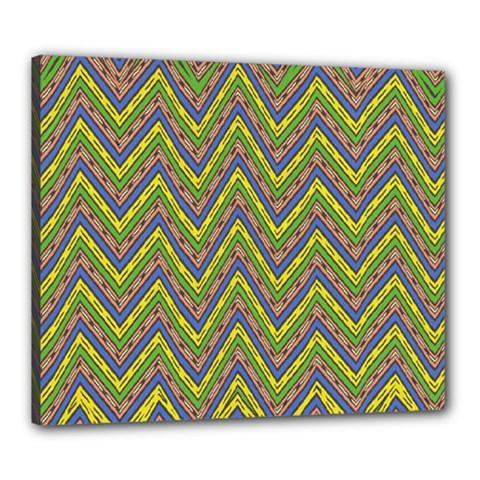 Zig Zag Pattern Canvas 24  X 20  (stretched) by LalyLauraFLM
