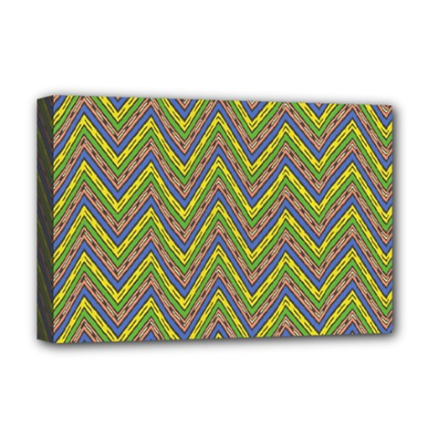 Zig Zag Pattern Deluxe Canvas 18  X 12  (stretched)