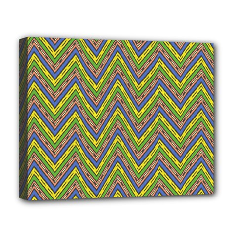 Zig Zag Pattern Deluxe Canvas 20  X 16  (stretched)