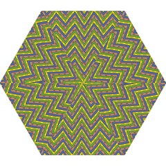Zig Zag Pattern Mini Folding Umbrella