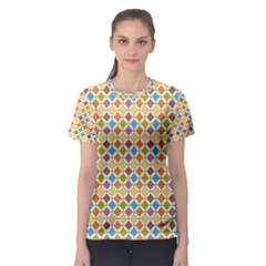 Colorful Rhombus Pattern Women s Full All Over Print Sport T-shirt