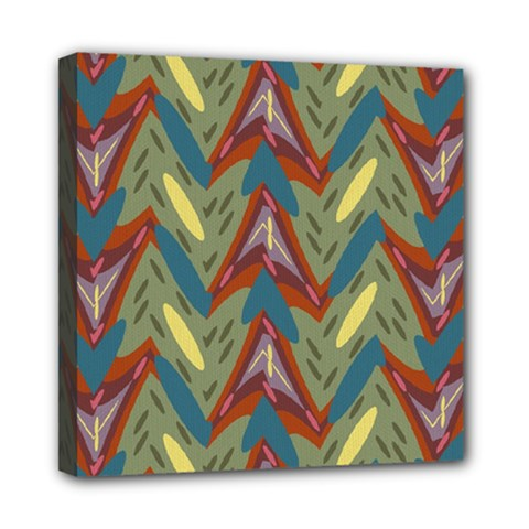 Shapes Pattern Mini Canvas 8  X 8  (stretched) by LalyLauraFLM
