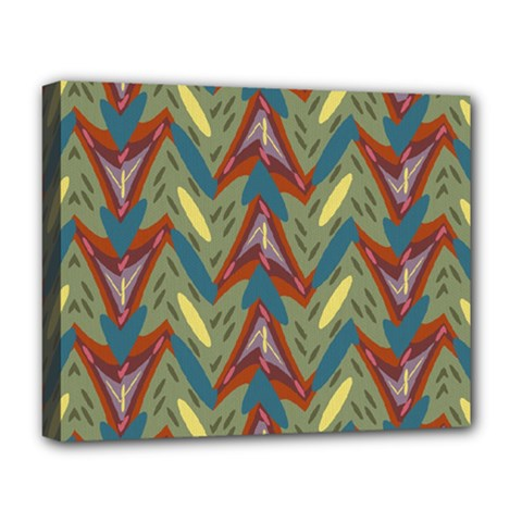 Shapes Pattern Deluxe Canvas 20  X 16  (stretched) by LalyLauraFLM