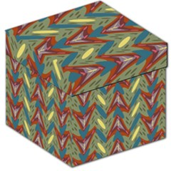 Shapes Pattern Storage Stool 12  by LalyLauraFLM