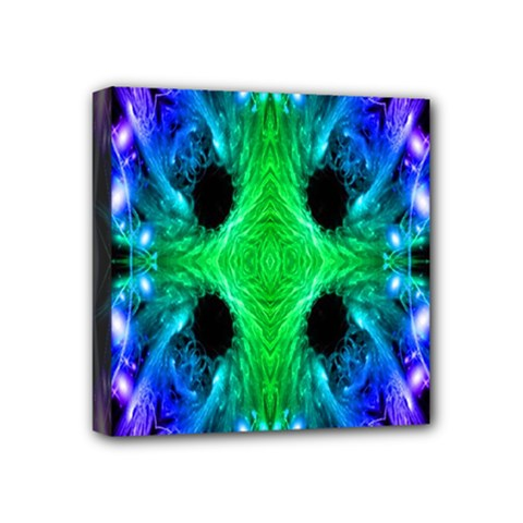 Alien Snowflake Mini Canvas 4  X 4  (framed) by icarusismartdesigns