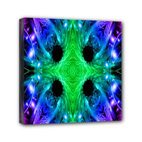 Alien Snowflake Mini Canvas 6  X 6  (framed) by icarusismartdesigns