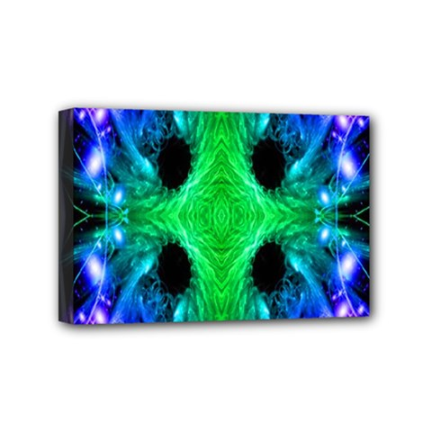 Alien Snowflake Mini Canvas 6  X 4  (framed) by icarusismartdesigns