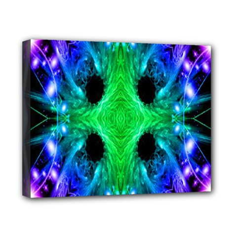 Alien Snowflake Canvas 10  X 8  (framed) by icarusismartdesigns