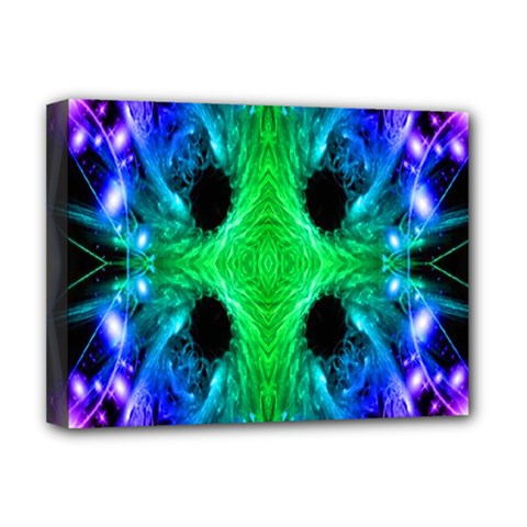 Alien Snowflake Deluxe Canvas 16  X 12  (framed)  by icarusismartdesigns