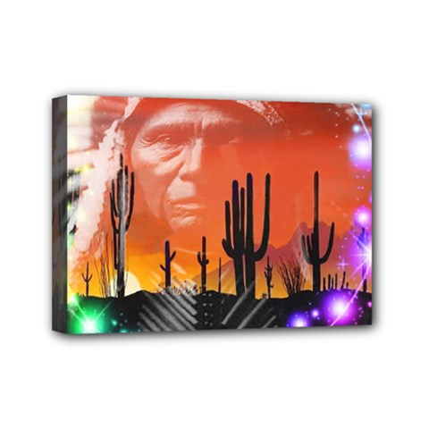 Ghost Dance Mini Canvas 7  X 5  (framed) by icarusismartdesigns