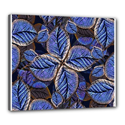Fantasy Nature Pattern Print Canvas 24  X 20  (framed)