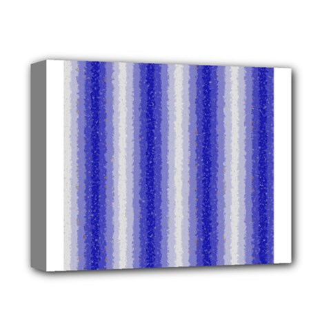 Dark Blue Curly Stripes Deluxe Canvas 14  X 11  (framed) by BestCustomGiftsForYou