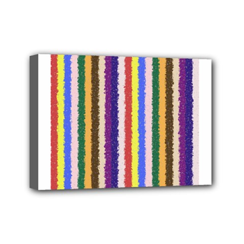 Vivid Colors Curly Stripes   1 Mini Canvas 7  X 5  (framed) by BestCustomGiftsForYou
