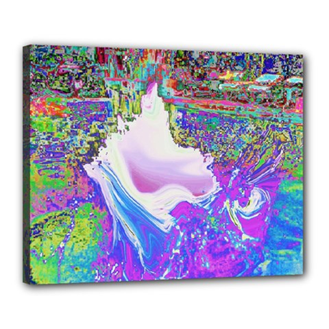 Splash1 Canvas 20  X 16  (framed) by icarusismartdesigns
