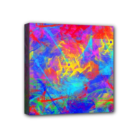 Colour Chaos  Mini Canvas 4  X 4  (framed) by icarusismartdesigns