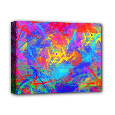 Colour Chaos  Deluxe Canvas 14  X 11  (framed) by icarusismartdesigns