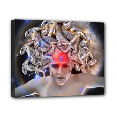 Medusa Canvas 10  X 8  (framed) by icarusismartdesigns