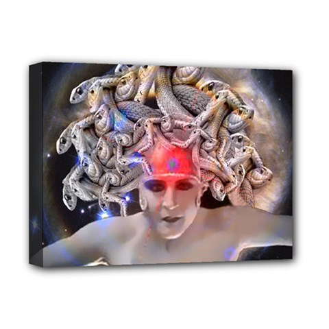 Medusa Deluxe Canvas 16  X 12  (framed)  by icarusismartdesigns