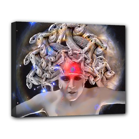Medusa Deluxe Canvas 20  X 16  (framed) by icarusismartdesigns