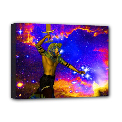 Star Fighter Deluxe Canvas 16  X 12  (framed)  by icarusismartdesigns