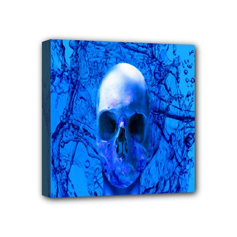 Alien Blue Mini Canvas 4  X 4  (framed) by icarusismartdesigns