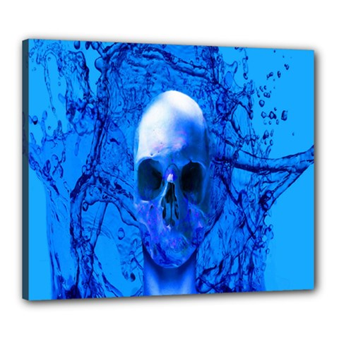 Alien Blue Canvas 24  X 20  (framed) by icarusismartdesigns