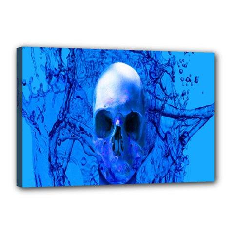 Alien Blue Canvas 18  X 12  (framed) by icarusismartdesigns