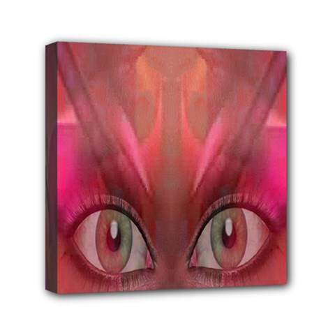 Hypnotized Mini Canvas 6  X 6  (framed) by icarusismartdesigns