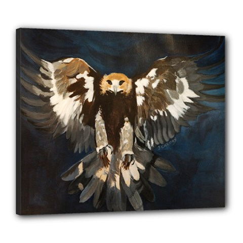 Golden Eagle Canvas 24  X 20  (framed)