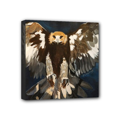 Golden Eagle Mini Canvas 4  X 4  (framed) by JUNEIPER07