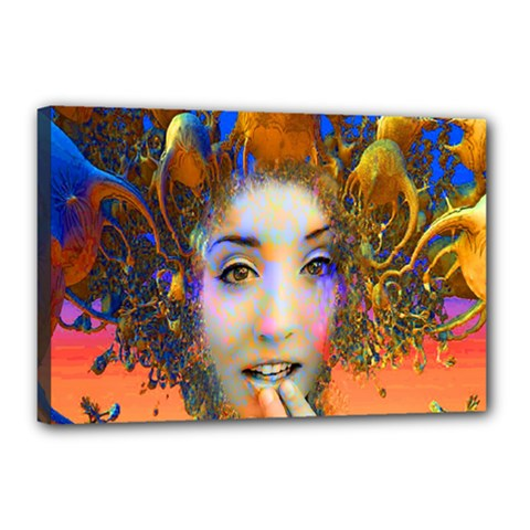 Organic Medusa Canvas 18  X 12  (framed) by icarusismartdesigns