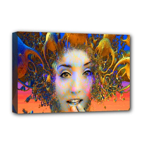 Organic Medusa Deluxe Canvas 18  X 12  (framed) by icarusismartdesigns