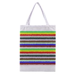 Horizontal Vivid Colors Curly Stripes   2 All Over Print Classic Tote Bag by BestCustomGiftsForYou